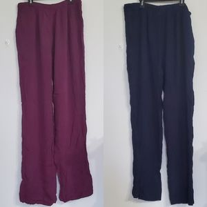 2 Pairs of Bohemian Style Pants Size S